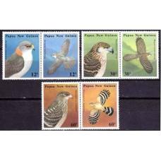 1985 Papua New Guinea Mi.497-502Paar Birds of prey 8.00 ?