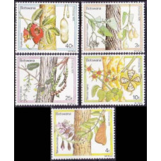 1976 Botswana Mi.174-178 Flowers 4,00 €