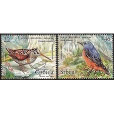 2009 Serbien Mi.283-284 Birds 1,80 €
