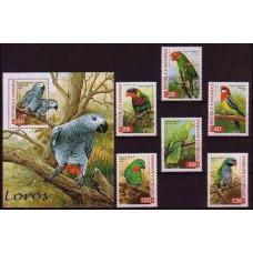 1998 Republica Saharaui 6v+B Parrots €