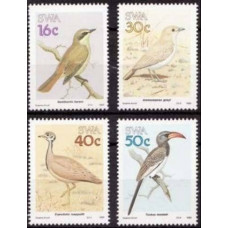 1988 South West Africa(SWA) Mi.629-632 Birds of South West Africa 7.00 €