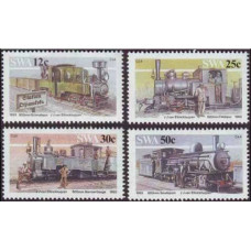 1985 South West Africa(SWA) Mi.575-578 Locomotives 5,00
