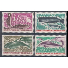 1969 St Pierre & Miquelon Mi.443-446 Sea fauna 24,00 €