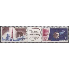 1966 St Pierre & Miquelon Mi.413-414Tab Rocket Launch 18,00 €