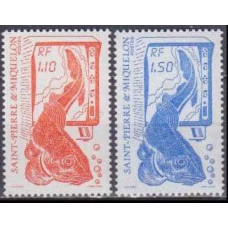 1987 St Pierre & Miquelon Mi.550-551 Sea fauna 2,20 €
