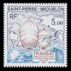 1987 St Pierre & Miquelon Mi.545 Ships with sails 3,40