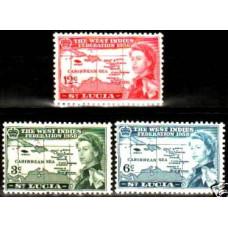 1958 St.Lucia Michel 159-61** Elizabet II 2.60 ?