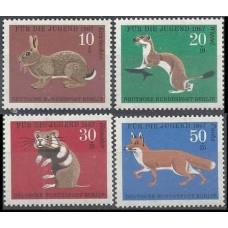 1967 Berlin, West Mi.299-302 Fauna 2,20 €