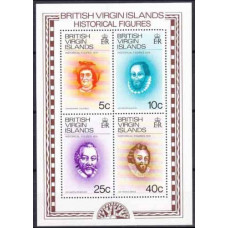 1974 British Virgin Islands Mi.270-73/B3 Personalities 4,00 €