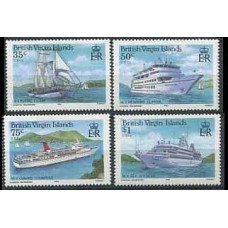 1986 British Virgin Islands Mi.537-540 Ships 7,50 €