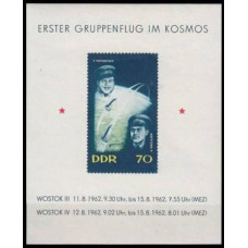 1962 Germany, East(DDR) Mi.917/B17b Vostok 3/4;Nicolaiev et Popovich 4,00