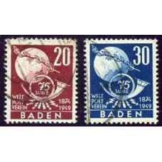 1949 Baden Mi.56-57 (25.00)