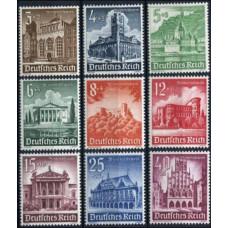 1940 Germany Reich Mi.751-759 ** Architecture 40.00 €