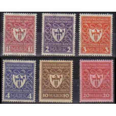 1922 Germany Reich Mi.199-204 ** 20.00 €
