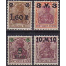 1921 Germany Reich Mi.154-157 II ** overprint 15.00 €