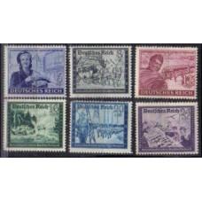 1944 Germany Reich Mi.888-896 ** World War II 3.50 €