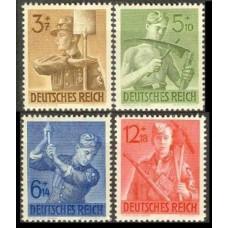 1943 Germany Reich Mi.850-853** 4,00 €