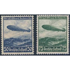 1936 Germany, Reich Mi.606-607(*) Dirigible 50,00 €