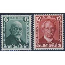 1936 Germany Reich Mi.604-605** Personalities 16,00 €
