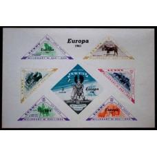 1961 Great Britain - LUNDY Bloc Overprint, = Europa