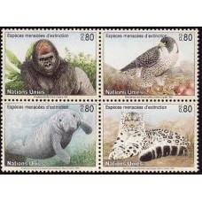 1993 UN Geneva Mi.227-30VB Fauna 4,50