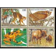 1995 UN Geneva Mi.263-266VB Fauna 5,00 €