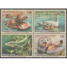 2000 UN Geneva Mi.385-88VB Fauna 5,50 €