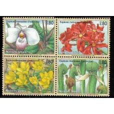 1996 UN Geneva Mi.288-91VB Flowers 5,00