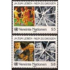1987 UN Vienna Mi.71-72 Football 2,00 €