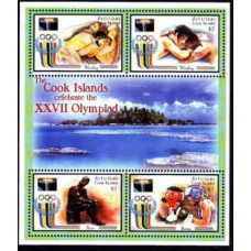 2000 Aitutaki Mi.767-770KL 2000 Olympics in Sydney 11,00 €
