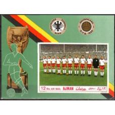 1969 Ajman Michel 368/B84b Football 7.00 €