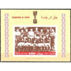 1968 Ajman Michel 317/B57b Football 4.50 €