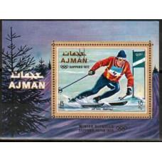 1970 Ajman Michel 668/B222 1972 Olympiad Sapporo 8.50 €