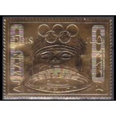1968 Ajman Mi.324gold 1968 Olympic Mexico 9,00