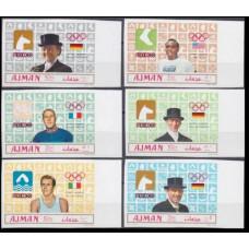 1969 Ajman Mi.448-53b 1968 Olympic Mexico 15,00 €