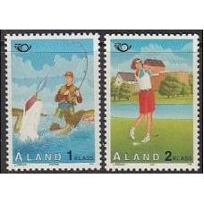 1995 Aland Mi.102-103 Sea fauna 1,70