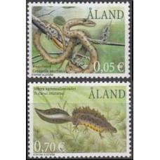 2002 Aland Mi.199-200 Reptiles