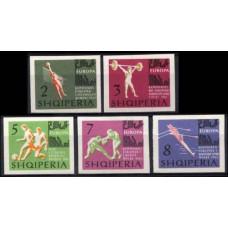 1963 Albania Mi.768-772b Sport 35.00 €
