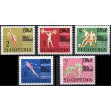 1963 Albania Mi.763-767 Sport 7.00 €