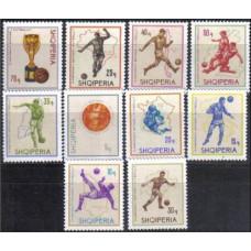 1966 Albania Michel 1036-1045 1966 World championship on football of England 6.00 €