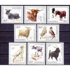 1968 Albania (SHQIPERIA) Mi.1256-1263 Fauna 7,00 €