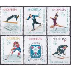1967 Albania (SHQIPERIA) Mi.1233-1238 1968 Olympiad Grenoble 4,50 €