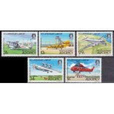 1985 Alderney Mi.18-22 Planes 35,00 €