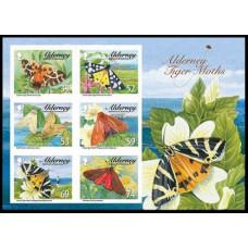 2012 Alderney Mi.446-451/B30 Butterflies