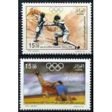 2008 Algeria Mi.1565-1566 2008 Olympiad Beijing 2,40 €