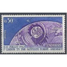 1962 Andorra fr Mi.178 Satellite 1,50 €