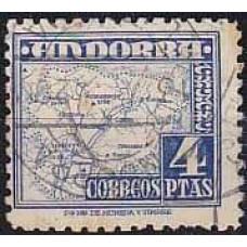 1953 Andorra spa. Michel 56 used 25.00 €