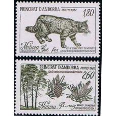 1982 Andorra fr Mi.327-328 Fauna and Flora 2,00 €