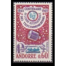 1965 Andorra fr Mi.193 Satellite 4,50 €