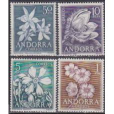 1966 Andorra spa, Mi.67-70 Flowers 8,50 €